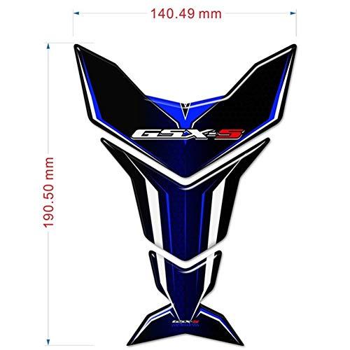 Moto-Cross GSXS GSXS 750 1000 for Suzuki GSX-S125 GSX-S750 GSX-S1000-Behälter-Auflage-Schutz-Aufkleber Side-Auflage-Schutz-Motorrad 2019 2020 (Color : Tank Blue)