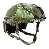 AlonSwallow Casque Tactique Militaire en Plein Air Rapide Armée Casque Casual Armée Fan Unisexe Camouflage en Plein Air Complet Casque