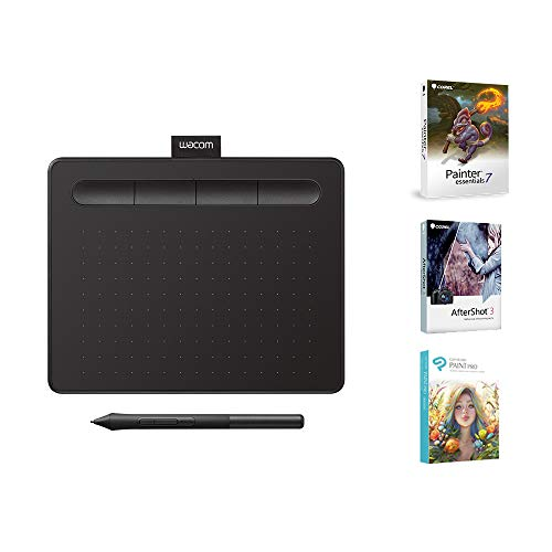 Wacom CTL4100 Intuos Graphics Drawing Tablet with 3 Bonus Software included, 7.9'x 6.3', Black