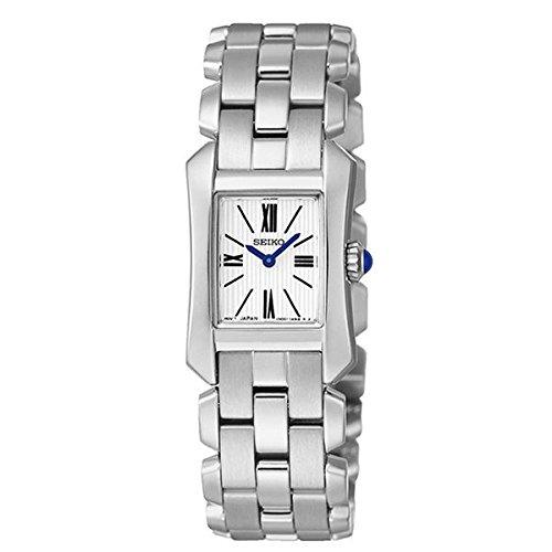 Seiko Damen Analog Quarz Uhr mit Edelstahl Armband SUJG69P1