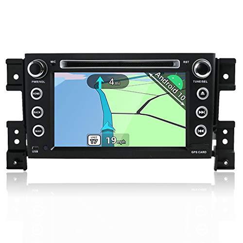 YUNTX Android 10 Autoradio Compatible con Suzuki Grand Vitara (2005-2013) - GPS 2 DIN - Cámara Trasera Libre y micrófono- 7 Pulgadas - Soporte DAB + / Control del Volante / 4G / WiFi/Bluetooth/Carplay