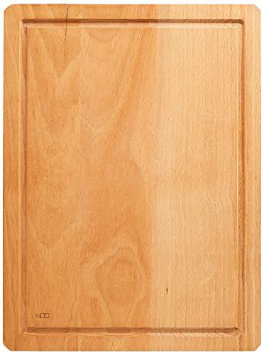 A'Domo PV-KIT-0589 Point-Virgule Beech Cutting Board with Groove by Mathias De Ferm 39X29X4Cm, Brown