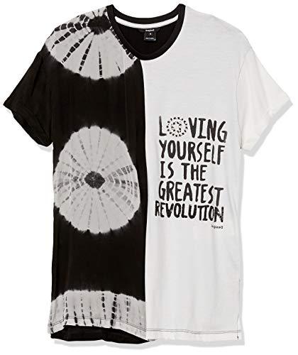 Desigual Blusa de manga corta para mujer - blanco - Medium