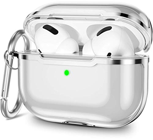 SZsic AirPods Pro ケース クリア TPU airpods proカバー ワイヤレス充電対応 airpods充電ケース (新世代・シルバー)