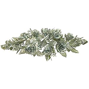 LINESS for Silk Roses Swag 2ft Artificial Flowers Wedding Arch Table Centerpiece Backdrop DIY LINESS for Wedding Flowers, Petals & Garlands Floral Décor – Color is Silver