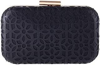 BEESCLOVER Ladies Evening Bags Handbag Women Chain Crossbody Shoulder Bag Hollow Out PU Leather Purse Clutch Party Bag LI-323 Black 175mmx105mmx45mm
