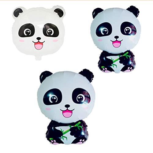 STOBOK 3tlg Panda Luftballons Süße Mylar Luftballons für Kindergeburtstagsparty Dekoration