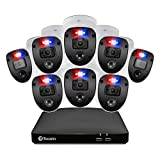 Swann Home Security Camera System 8 Channel 8 Cameras DVR CCTV, Wired Surveillance 1080p Full HD + 1TB HDD, Color Night Vision, Heat & Motion Sensing, Alexa + Google, SWDVK-846808SL