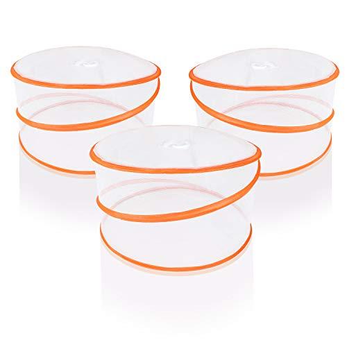 Amazy Mosquitera para alimentos (3 unids) – Pantalla protectora anti insectos para comida y bebida – Tamaño mediano