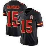YDYL-LI Camiseta De Los Hombres De La Camiseta De Fútbol Americano Camiseta # 15 Patrick Mahomes Rugby Fan Training Jersey Tops Grandes, Cómodos,Negro,L