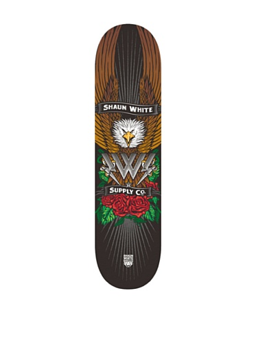 Shaun White Supply Co. Park Eagle Complete Skateboard - Black, 32 x 8 Inch