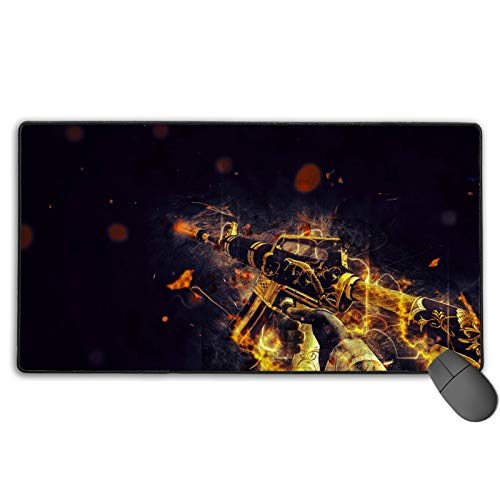 Csgo Guns Mouse Pad, Non-Slip Mouse Mat with Stitched Edges Waterproof Keyboard Pad Non-Slip Rubber Base Mousepad for Laptop, Computer & PC 8.3 x 10.3 inch