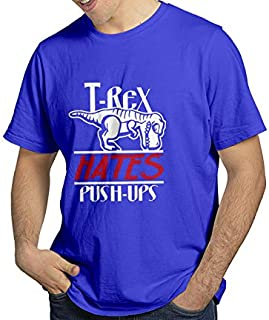 T-Rex Hates Push-Ups Funny, Cute Printed Cotton Shirt for Unisex