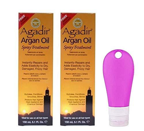 Agidir Argan Oil Spray Treatment 5.1 Oz Pack Of 2 And Travel Bottle