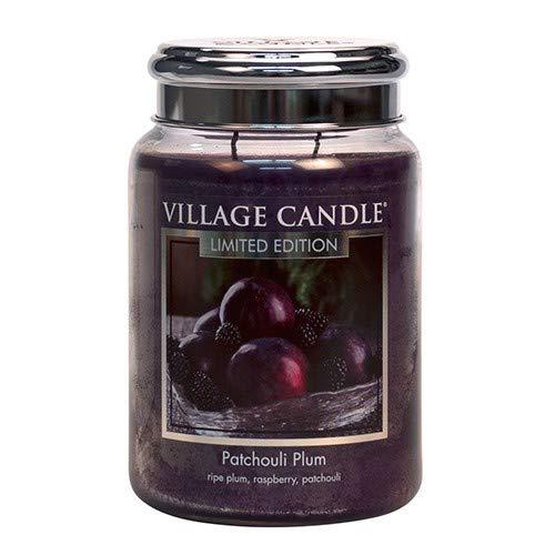 Village Candle Grande Jarre Silver - Prune Patchouli/Patchouli Plum