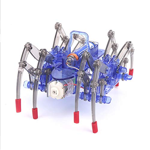tooloflife DIY Robot Kit Electronic Spider Robot Physics Science Kits Motorized Model Robot Kits Building Robotics Kit Science Toy set with User Manual Build it and Play with it