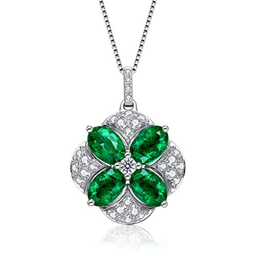 QiuYueShangMao Stil Palast Begonie Smaragdgrün Turmalin Farbe Schatz Anhänger Weibliche Mode Schlüsselbein Kette Schmuck Halskette Damen Beste Halskette freundschaftsketten Geschenk