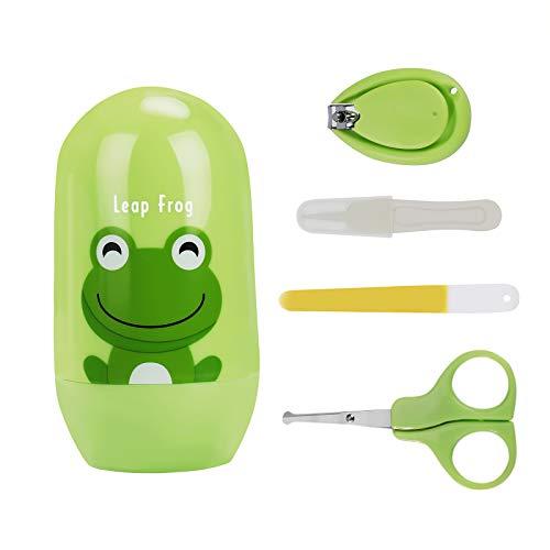 Baby Nagelknipser Set Maniküre Set mit Sicherem Nagelknipser Schere Pinzette Nagelfeile für Kinder Neugeborene 4 Stück
