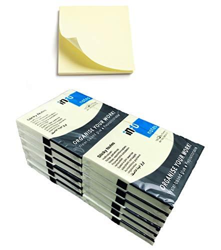 Notizhaftzettel 12 Blöcke a 100 Blatt - gelb wie die Post - Notes aus umweltfreundlicher deutscher Produktion IT