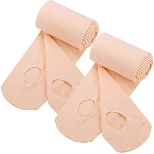 DanfitDance Tights for Ballet Girl,Pro-Grade Grace Ultra Soft Convertible Transition Pink Ballet Tight,Microfiber Sheer Tight Stocking Pantyhose Legging Stocking Pants for Toddler Children Ballerina Kids, 2 Ballet Pink(convertible, M(Age 5-8)