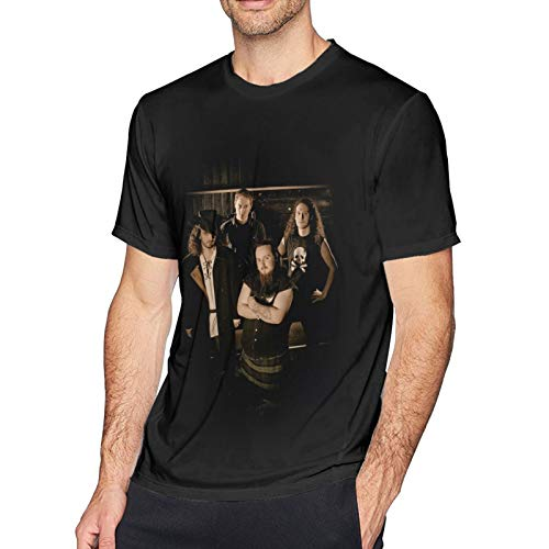 Custom Funny Teen Men's T Shirts 3D Print Soft Round Neck Short Sleeve Alestorm T-Shirt for Men,Tees Shirt Tops Black