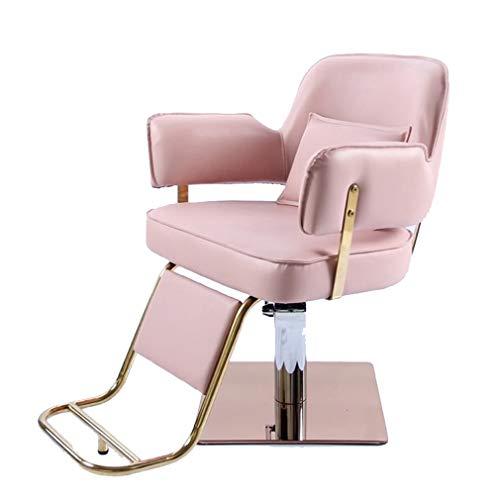 como Sillón de peluquería de Alta Gama, sillón de Belleza Especial para salón de Belleza, Cuero de PU, chasis de Acero Inoxidable, Esponja elástica Alta, Opcional