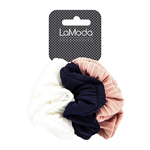 LaModa Coletero de pelo con textura acanalada en color rosa...