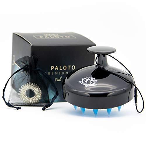 PALOTO® [ORIGINAL] Premium Shampoo Brush - Silikon Kopfhaut Massage Bürste für manuelle Kopfmassage - GRATIS Finger Massage Ring - Stimuliert das Haarwachstum und verhindert Schuppenbildung