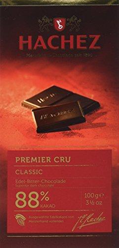 Hachez Cocoa Tafel - 88% Premier Cru Tafel Classicung (1 x 100 g)