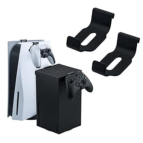 Mcbazel Controlador de gamepad y auriculares Soporte de suspensión para PS5/ Xbox Series solo sin tornillos / sin cinta adhesiva - 2 piezas