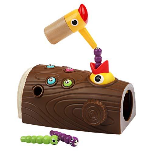 TOYANDONA Magnetisch Speelgoed Spel Set Specht Vangen Wormen Speelgoed Fijne Motoriek Voorschoolse Speelgoed Doen Alsof Spelen Speelgoed Voor Kind Kinderen Peuter
