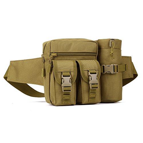 DCCN Hüfttasche Tactical Bachtasche Armee mit Flaschenhalter für Outdoor Sport Trekking Wandern Angeln …