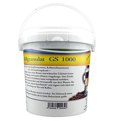 1L GS1000 Nachfüllgranulat - für Krug- und Tankfilter/Tischwasserfilter/Bügelstationen/Luftbefeuchter/Wasserfilter/Filterpatronen/Nachfüllkartuschen/Kaffeemaschinenfilter