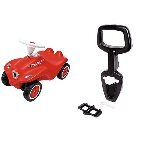 BIG 56200 - New Bobby Car, rot & 800056445 - Bobby Car Walker 2-in-1 Zubehör Lauflernhilfe, Rückenlehne