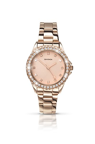Sekonda Women's Quartz Watch with Rose Gold Dial Analogue Display and Rose...