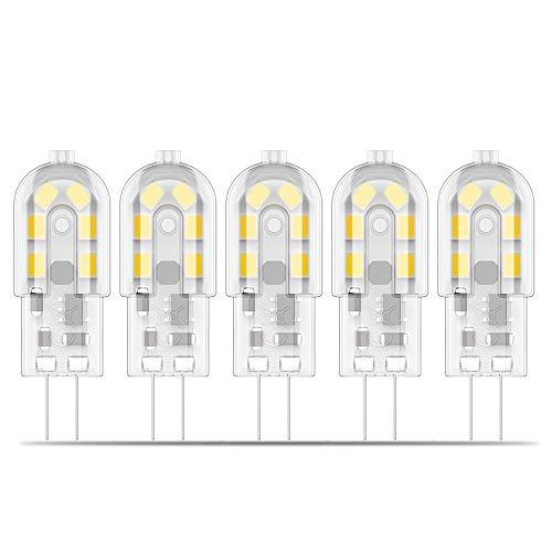 Preisvergleich Produktbild Phoenix-G4 LED Lampe 2W Ersatz für 20W Halogenlampen,  200lm 12V AC / DC Warmweiß 3000K,  Kein Flackern,  Nicht Dimmbar -5er Pack