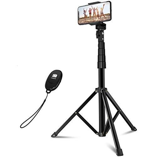 "Selfie Stick & Tripod, Mpow 57"" Extendable Tripod Stand with Bluetooth Remote, All-in-One Professional, Phone Tripod for Cell Phone, Compatible with iPhone 11 11 Pro Max Xs X 6 7 8 Galaxy S10 Camera"