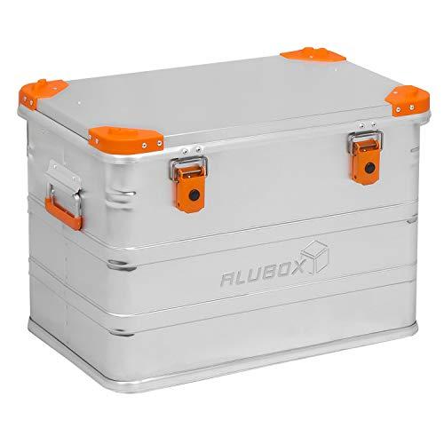 ALUBOX D76 Premium Aluminium Lagerbox Alukiste 73 Liter mit Stapelecken
