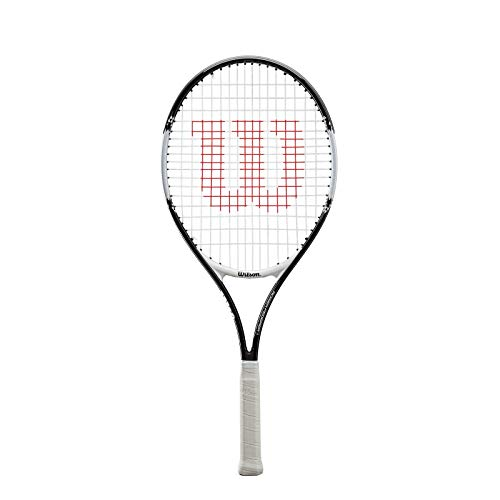 Wilson, Raqueta de tenis para niños/jóvenes, Roger Federer 25, Negro/Rojo, Para niños y jóvenes con altura de 130 a 145 cm