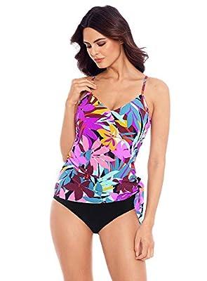 Magicsuit Women's Swimwear Palm Springs Alex Underwire Removable Cup Tankini Top, Multi, 08