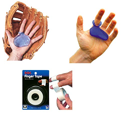 Hot Glove Baseball Sting Pad Pro Hand Protection 3 Piece Bundle with Finger Wrap