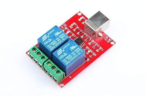 ARCELI SRD-05VDC-SL-C 2-Wege 5V Relais-Modul Kostenloser Treiber USB Control Switch PC Intelligent Control