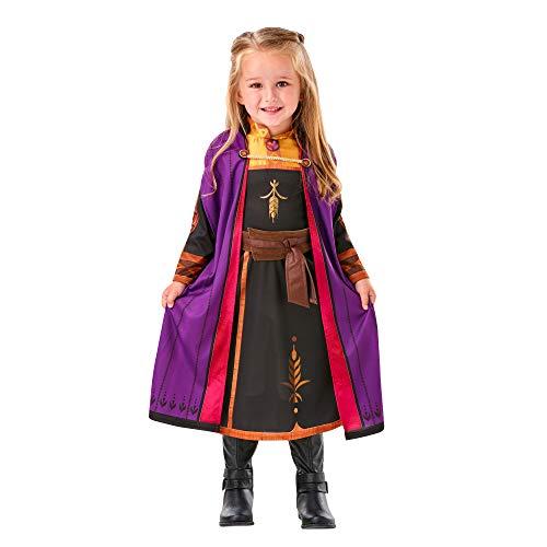 Rubies - Disfraz oficial Anna Frozen de 2 tallas 2 – 3 años – 3 años – Rubie's ans-I-300289TOD – para niña, I-300289TOD, azul