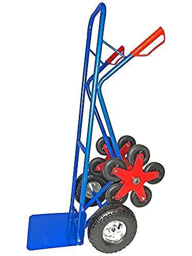 Sackkarre Treppensteiger 200Kg Treppensackkarre Stahl mit 5 Sternförmigen Rädern