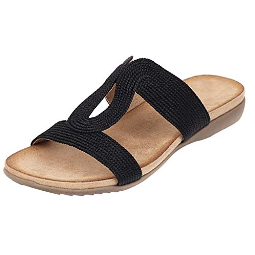 Read About KANGMOON Women's Summer Sandals Casual Comfortable Flip Flops Beach Shoes Ankle T-Strap T...