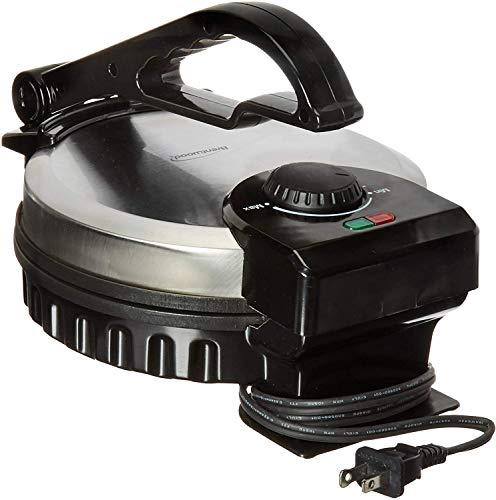Brentwood TS127 Stainless Steel Non-Stick Electric Tortilla Maker, 8-Inches