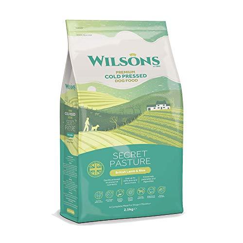 Wilsons Secret Pasture Kaltgepresstes Hundefutter, britisches Lamm und brauner Reis, 5 kg, verbessert Verdauung und reduziert Blähungen, Doppelpack