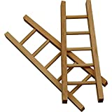 greedeko 6 STK. Leiter zum basteln 10x4 Holz selbstgestalten DIY Deko Mini Miniatur