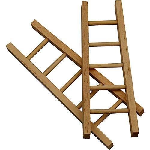 greedeko - 6 Escaleras para manualidades, 10 x 4 cm, para decoración, personalizables