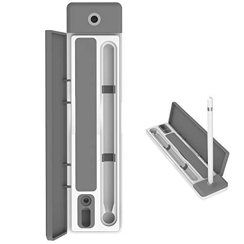 AWAVO Stylus etui en standaard voor Apple potlood, met USB-oplaadkabel en opslagsleuf om USB-kabel georganiseerd te houden
